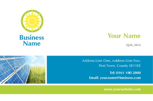 Online print templates printing solar panels business card reheart Image collections