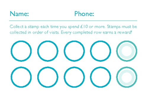 Online Print Templates Printingcom - Loyalty card template