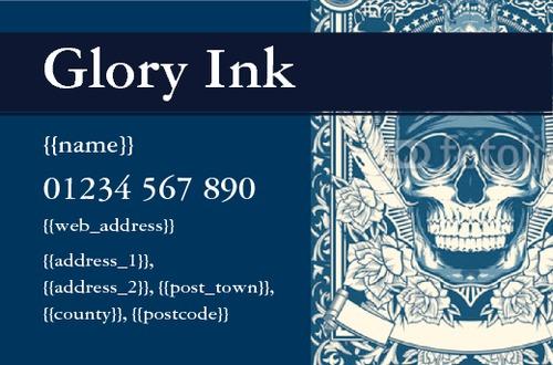Tattooists Business Card  by Thomas Mascall