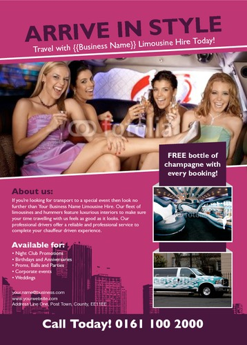 Taxi Hire A6 Flyers by Ro Do