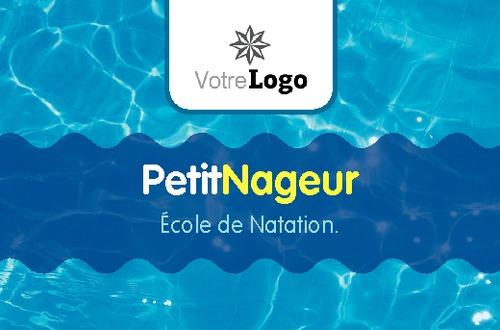 Cours De Natation Carte Visite