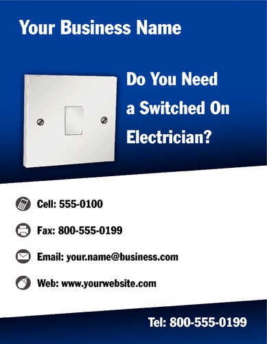 "Electrician 8.5"" x 11"" Flyers by Neil Watson"