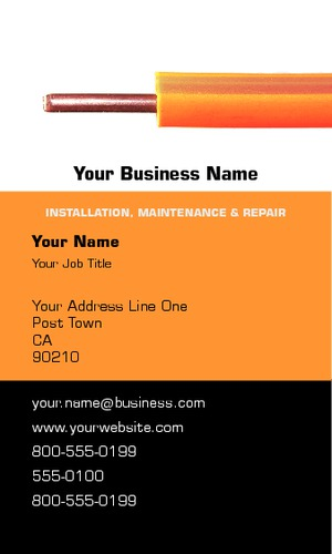 "Electrician 2"" x 3.5"" Business Cards by Peter Stewart"
