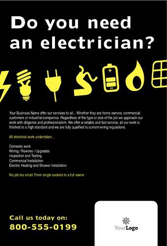 "Electrical 4"" x 6"" Flyers by Paul Wongsam"