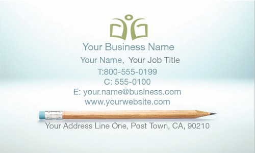 """Education and Training 2"""" x 3.5"""" Business Cards by TemplateCloud.com"""