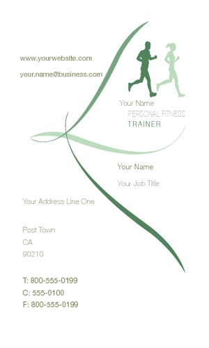 "Personal Trainer 2"" x 3.5"" Business Cards by Paul Bullock"