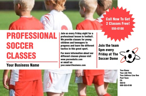"""Soccer 5.5"""" x 8.5"""" Flyers by Rebecca Doherty"""