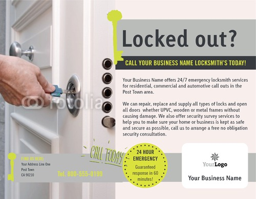 "Locksmiths 8.5"" x 11"" Flyers by C V"