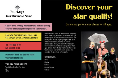 "Acting Class 5.5"" x 8.5"" Flyers by C V"