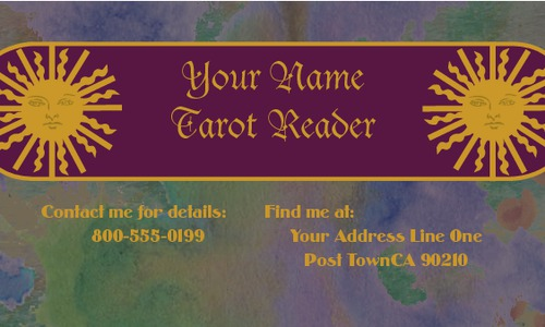 "Tarot Card Reader 2"" x 3.5"" Business Cards by C V"