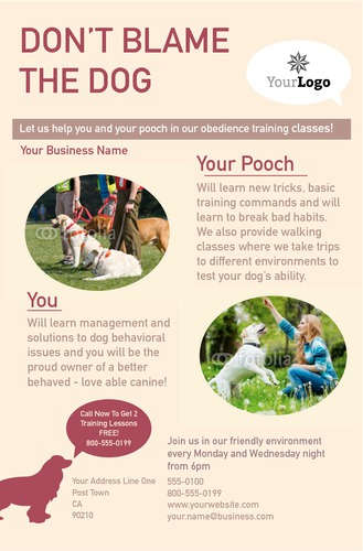 """Dog Care 5.5"""" x 8.5"""" Flyers by Rebecca Doherty"""