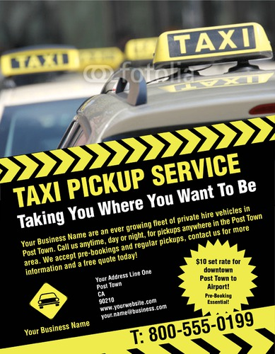 "Taxi 8.5"" x 11"" Flyers by Rebecca Doherty"