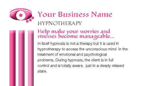 "Hypnotherapy 2"" x 3.5"" Business Cards by Laura Marples"