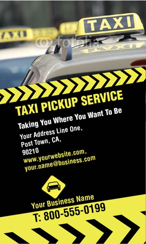 "Taxi 2"" x 3.5"" Business Cards by Rebecca Doherty"