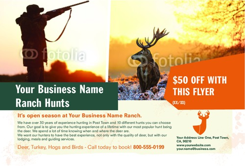 "Hunting 4"" x 6"" Flyers by Ro Do"