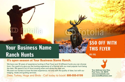 "Hunting 5.5"" x 8.5"" Flyers by Ro Do"
