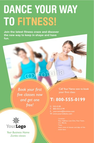 "Fitness 5.5"" x 8.5"" Flyers by Rosie McAlear"
