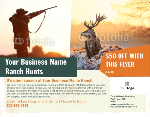 "Hunting 8.5"" x 11"" Flyers by Ro Do"