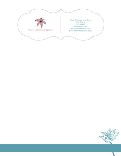 "Florist 8.5"" x 11"" Stationery by Ro Do"