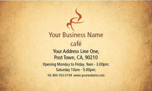 "Cafe 2"" x 3.5"" Business Cards by Paul Wongsam"