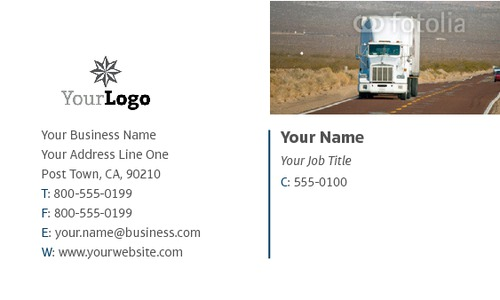 """Logistics 2"""" x 3.5"""" Business Cards by SC Creative"""