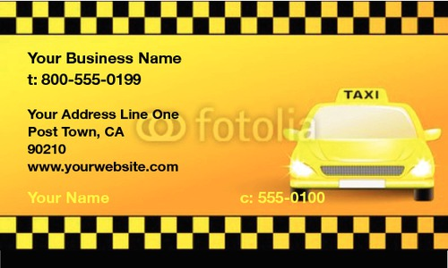 "Taxi 2"" x 3.5"" Business Cards by Maksim Hvosts"
