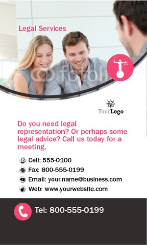 "Lawyers 2"" x 3.5"" Business Cards by Neil Watson"