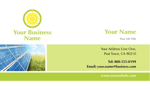 "Solar Panels 2"" x 3.5"" Business Cards by Paul Wongsam"