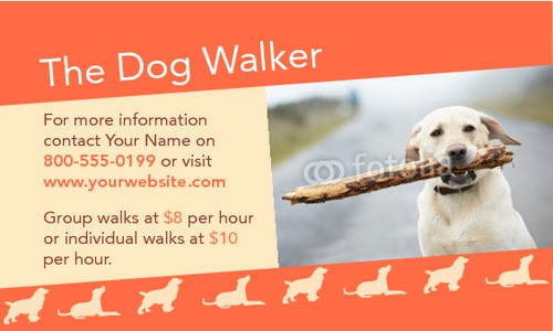 "Dog Walkers 2"" x 3.5"" Business Cards by Ro Do"
