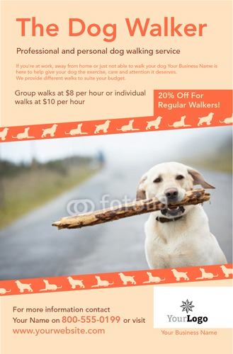 "Dog Walkers 5.5"" x 8.5"" Flyers by Ro Do"