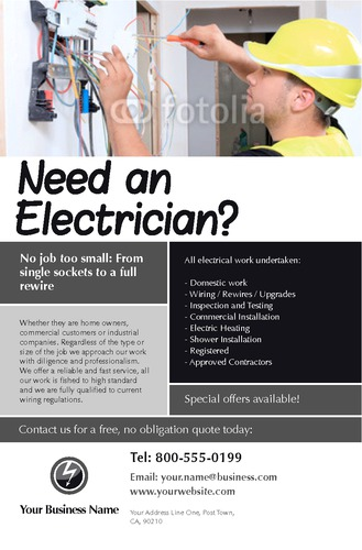 "Electrical 5.5"" x 8.5"" Flyers by Paul Wongsam"