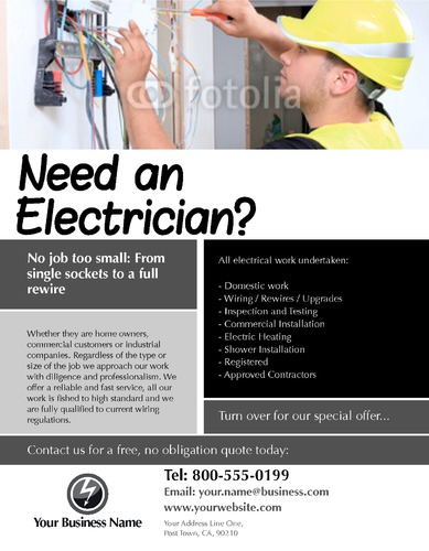 electrical 8 5 u0026quot  x 11 u0026quot  flyers