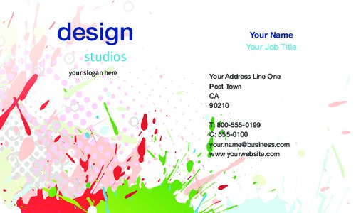 "Art & Design 2"" x 3.5"" Business Cards by Vaishali Patel"