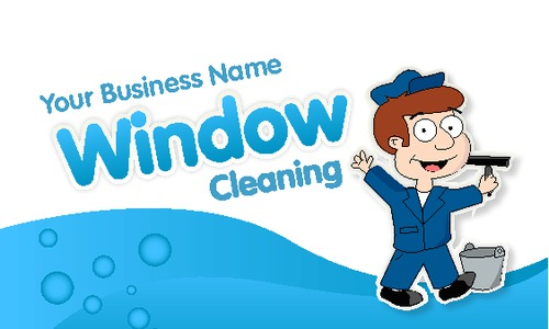 "Window Cleaning 2"" x 3.5"" Business Cards by Edward Augusto"