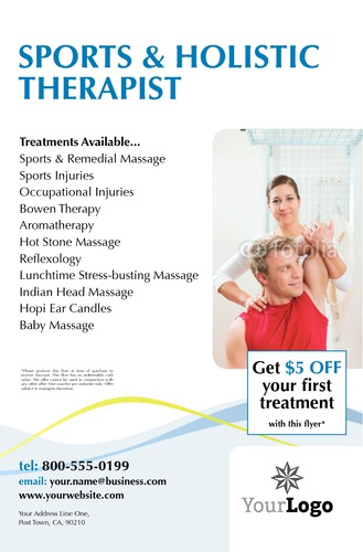 "Massage 5.5"" x 8.5"" Flyers by Paul Wongsam"