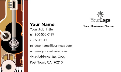 """Music 2"""" x 3.5"""" Business Cards by Rosie McAlear"""