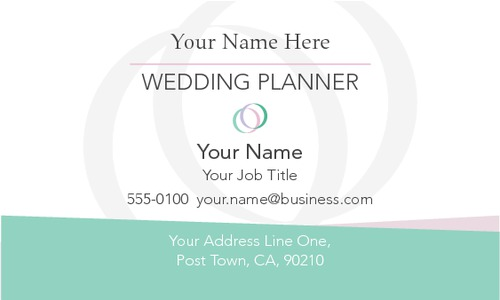 "Wedding Planners 2"" x 3.5"" Business Cards by Kirsty Murray"
