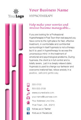 "Hypnotherapy 4"" x 6"" Flyers by Laura Marples"