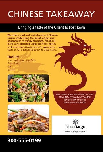 "Chinese Takeout 4"" x 6"" Flyers by Edward Mark  Power"