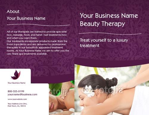 "Massage 8.5"" x 11"" Brochures by TemplateCloud.com"