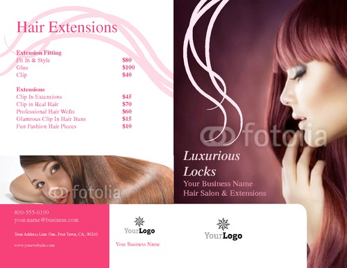 "Salon 8.5"" x 11"" Brochures by TemplateCloud.com"