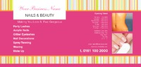 Beauty Salon 1/3rd A4 Leaflets by Templatecloud