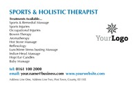 Massage Business Card  by Templatecloud