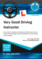 Driving Instructors A5 Leaflets by Templatecloud