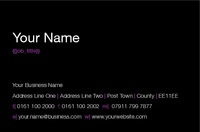 Night Club Business Card  by Templatecloud