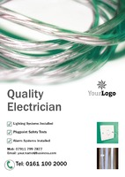 Electrician A5 Leaflets by Templatecloud