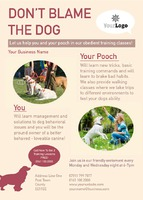 Dog Care A6 Leaflets by Templatecloud
