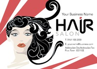 Hair A5 Leaflets by Templatecloud