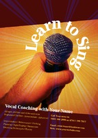 Vocal Coach A6 Leaflets by Templatecloud