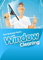 Window Cleaning A5 Leaflets by Templatecloud